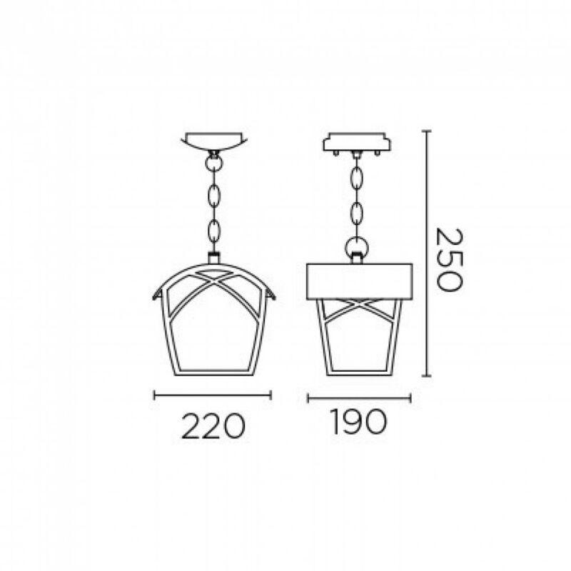 Leds-C4 ALBA 00-9350-18-AA kültéri függeszték rozsdabarna üveg