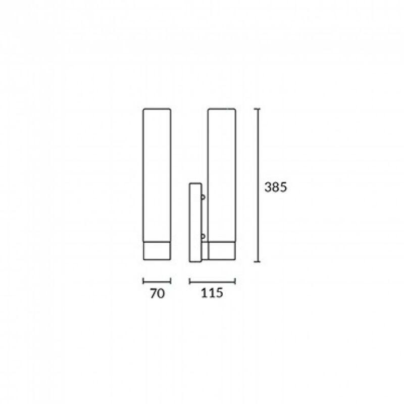 Leds-C4 DRESDE EVO 05-0027-21-F9 fürdőszoba fali lámpa  króm   üveg