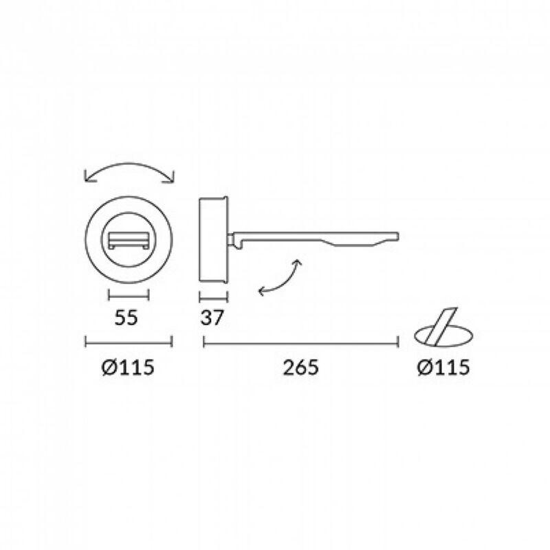 Leds-C4 ON-OFF 05-0072-34-34 fali olvasólámpa  szürke   alumínium