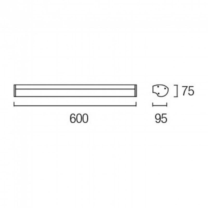 Leds-C4 MIRROR 05-0265-Y6-M1 Fürdőszoba fali lámpa alumínium 1xT5 max. 24 W 60x9,5x7,5cm