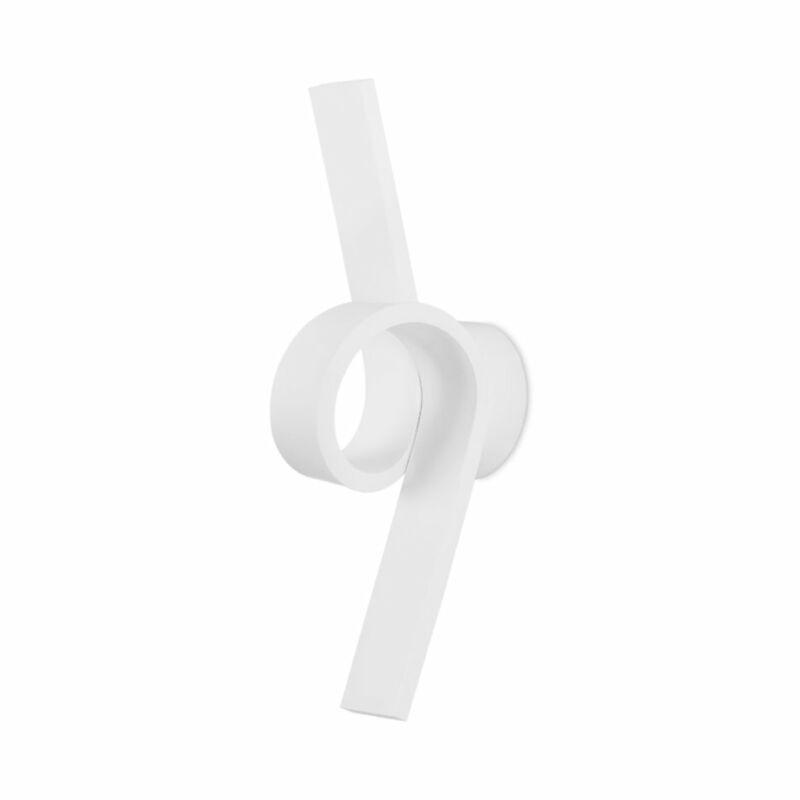 Leds-C4 CURL 05-2017-14-14 falikar fehér alumínium