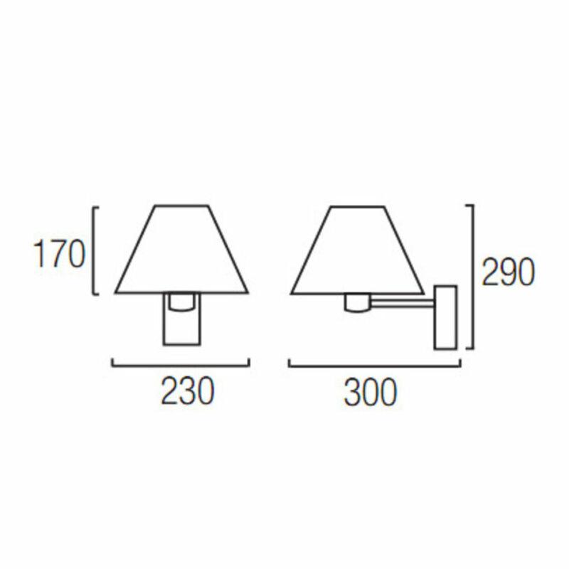 Leds-C4 HOTELS 05-2271-U4-82 fali olvasólámpa nikkel szövet