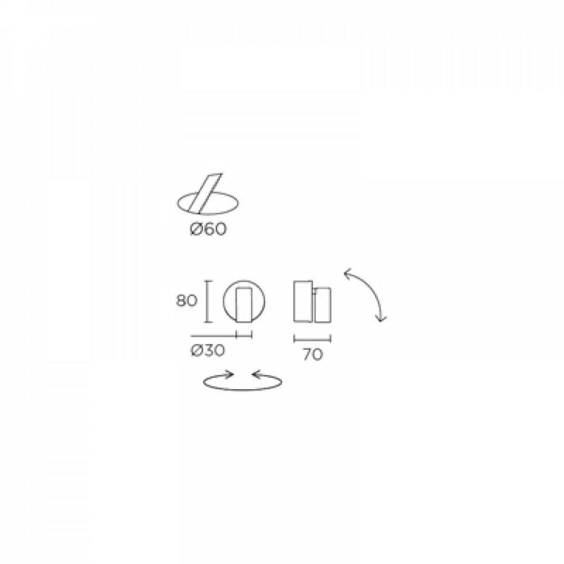 Leds-C4 IVY 05-2706-E4-E4 fali olvasólámpa antik réz alumínium