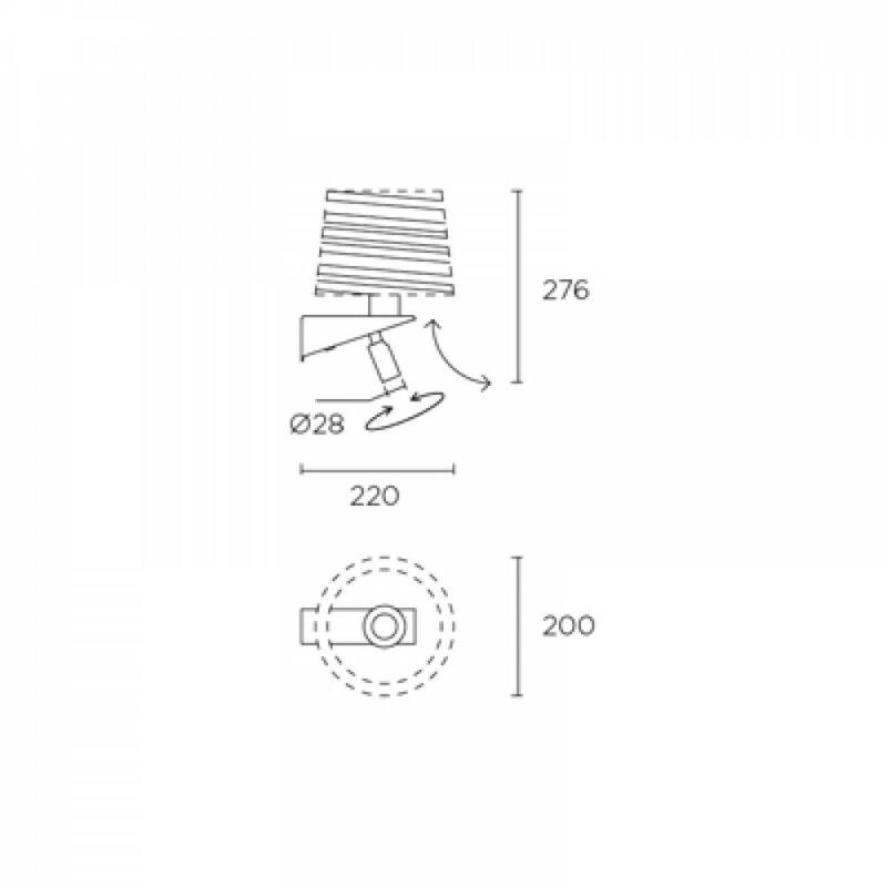 Leds-C4 GLOSS 05-2756-81-21 fali olvasólámpa nikkel acél