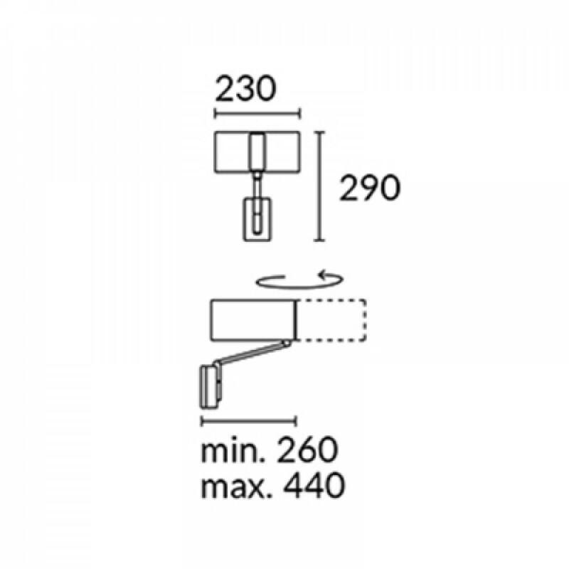 Leds-C4 TWIST 05-2817-81-14 fali olvasólámpa nikkel pamut