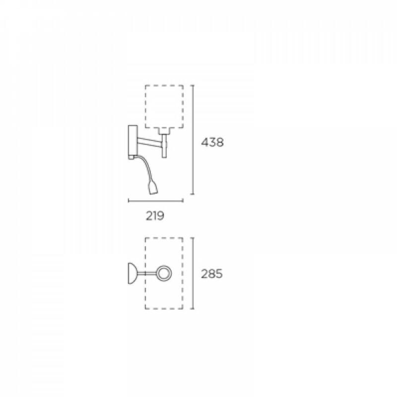 Leds-C4 BRISTOL 05-2820-21-21 fali olvasólámpa króm acél