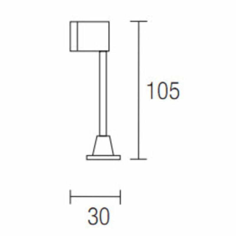 Leds-C4 WALL 05-2834-54-54 fali olvasólámpa alumínium alumínium