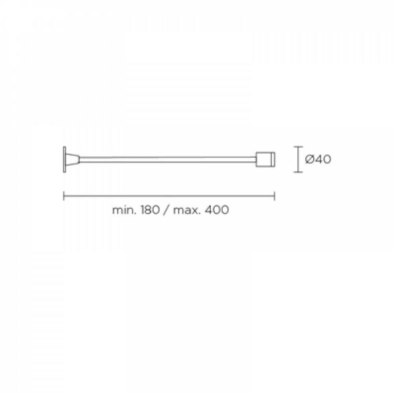 Leds-C4 WALL 05-2835-54-54 fali olvasólámpa alumínium alumínium