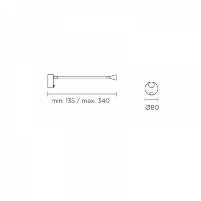 Leds-C4 BOOK 05-2838-21-21 fali olvasólámpa króm alumínium