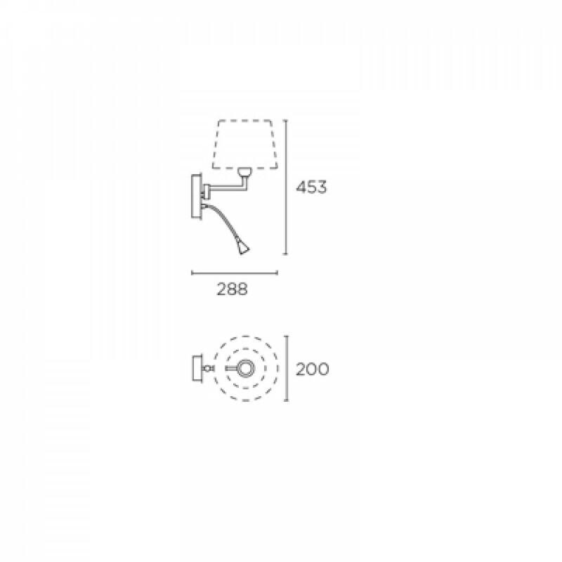 Leds-C4 OXFORD 05-2840-21-82 fali olvasólámpa króm acél