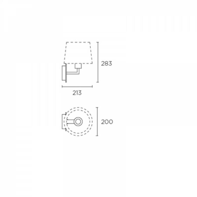 Leds-C4 BALI 05-3217-E4-82 falikar  antik réz   fém