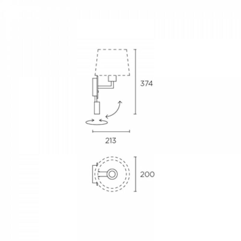 Leds-C4 BALI 05-3218-19-82 fali olvasólámpa bronz fém
