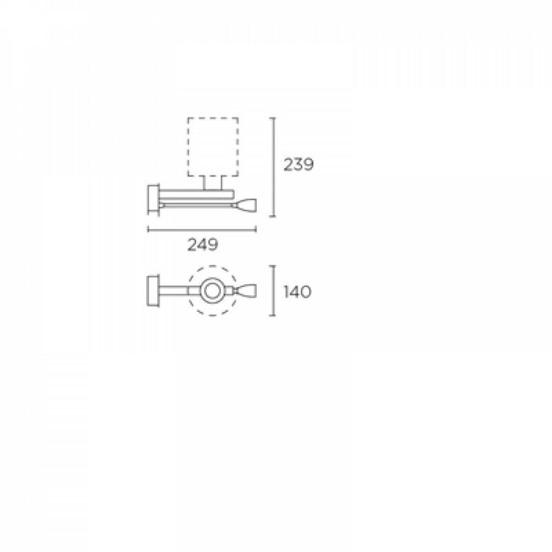 Leds-C4 TORINO 05-4695-Y2-82 fali olvasólámpa barna acél