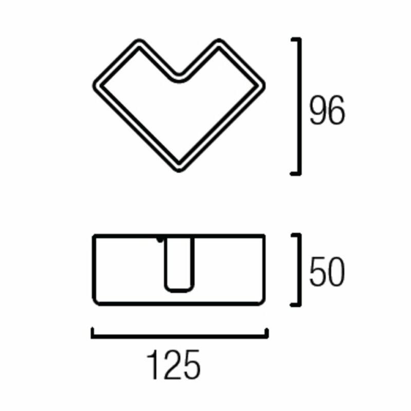 Leds-C4 LOV 05-0647-BW-BW fali lámpa  matt fehér   műanyag