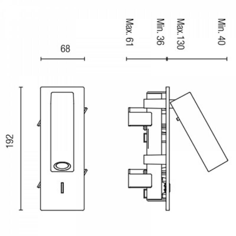 Leds-C4 HALL 05-4787-81-81 fali olvasólámpa nikkel alumínium