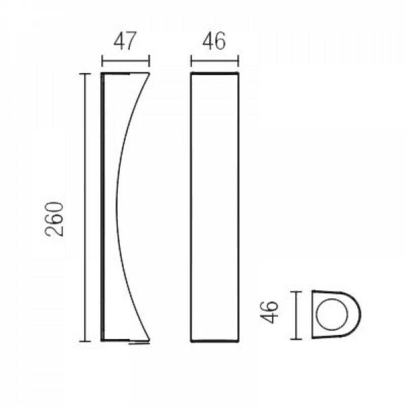 Leds-C4 SURF 05-5077-BW-BW fali lámpa fehér alumínium
