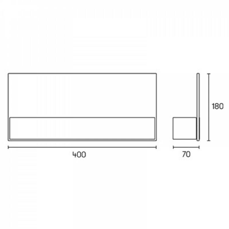 Leds-C4 FLAT 05-5092-BW-B9 fali lámpa fehér fehér acél üveg