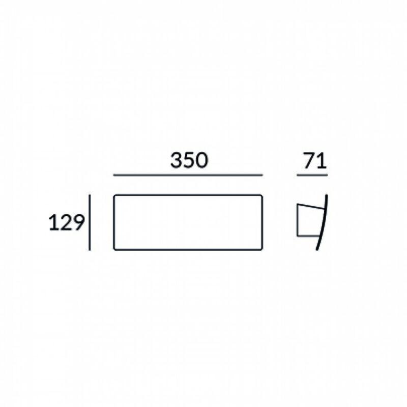 Leds-C4 DUNA 05-5964-14-M1 fali lámpa fehér alumínium műanyag
