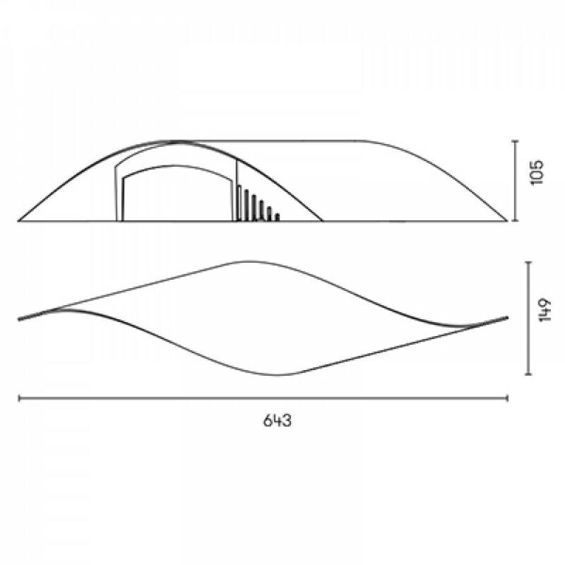 Leds-C4 RIZZ 05-5969-BW-BW fali lámpa fehér alumínium