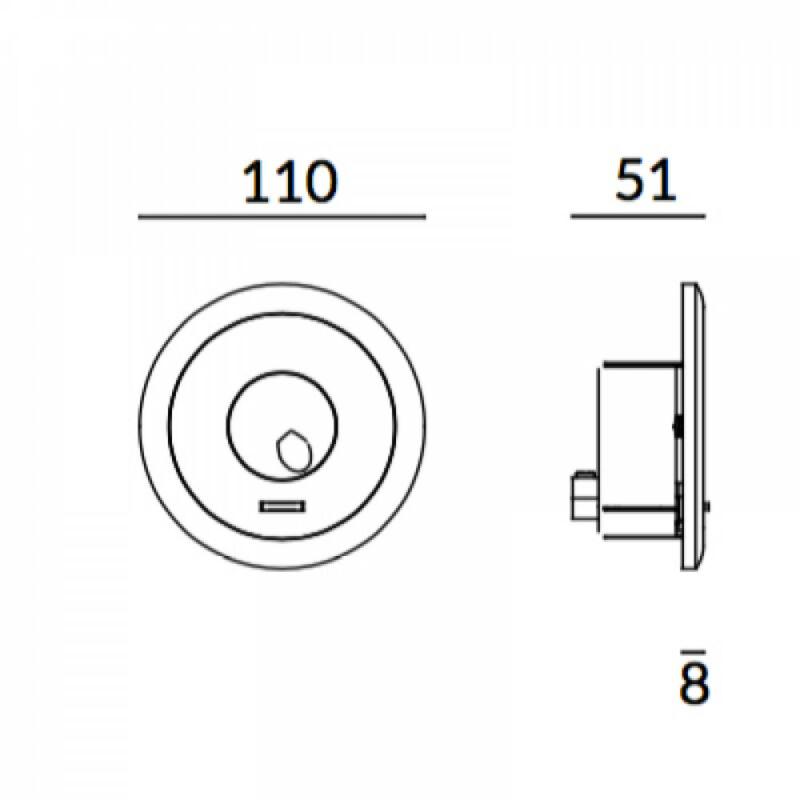 Leds-C4 RADAR 05-6488-14-14 fali lámpa fehér alumínium