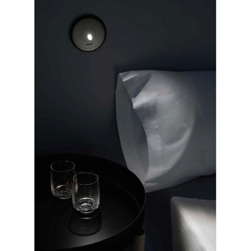 Leds-C4 RADAR 05-6488-60-60 fali éjjeli lámpa fekete alumínium