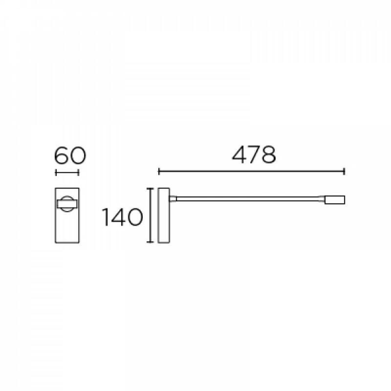 Leds-C4 LINK 05-7366-14-14 falikar fehér alumínium
