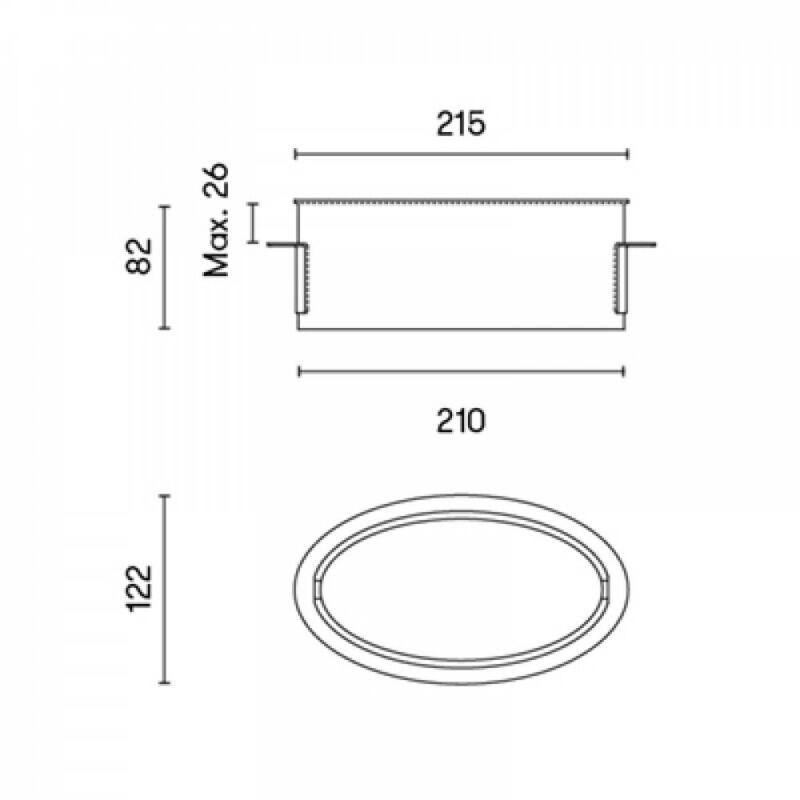 Leds-C4 ELY PARET 05-7564-14-M1 fali lámpa fehér alumínium
