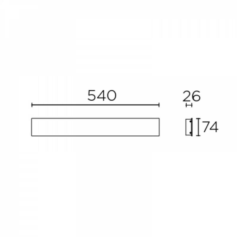 Leds-C4 FINO 05-7573-14-14 fali lámpa fehér alumínium