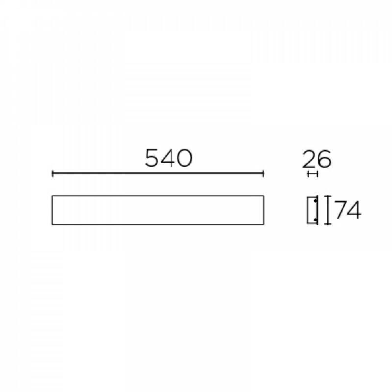 Leds-C4 FINO 05-7574-Z5-Z5 fali lámpa szürke alumínium