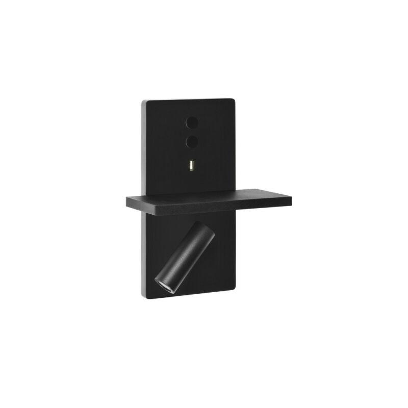Leds-C4 ELAMP 05-7606-05-05 fali olvasólámpa fekete alumínium