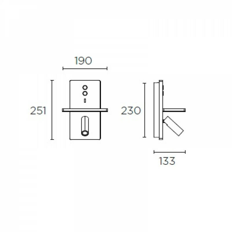 Leds-C4 ELAMP 05-7606-14-DO fali olvasólámpa fehér alumínium