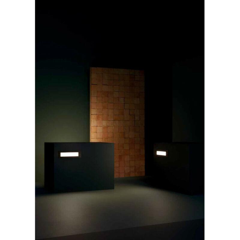 Leds-C4 MICENAS PRO 05-E051-34-CL kültéri fali led lámpa szürke alumínium