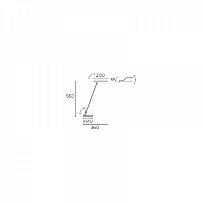 Leds-C4 ELVA 10-1523-21-21 íróasztal lámpa króm acél
