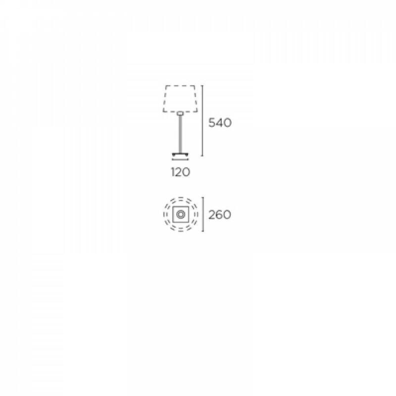 Leds-C4 LYON 10-1567-81-82 asztali lámpa  szatinált nikkel   acél