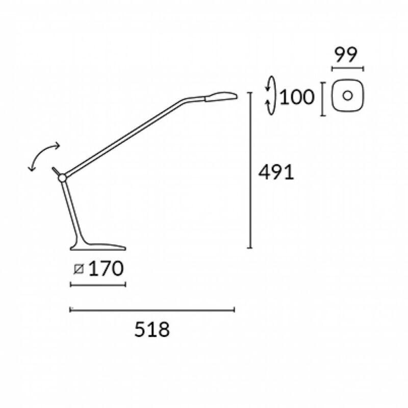 Leds-C4 QUEEN 10-3273-21-05 íróasztal lámpa  króm   fém