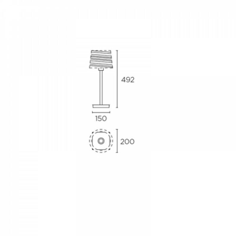 Leds-C4 TORINO 10-4695-21-82 asztali lámpa  króm   acél