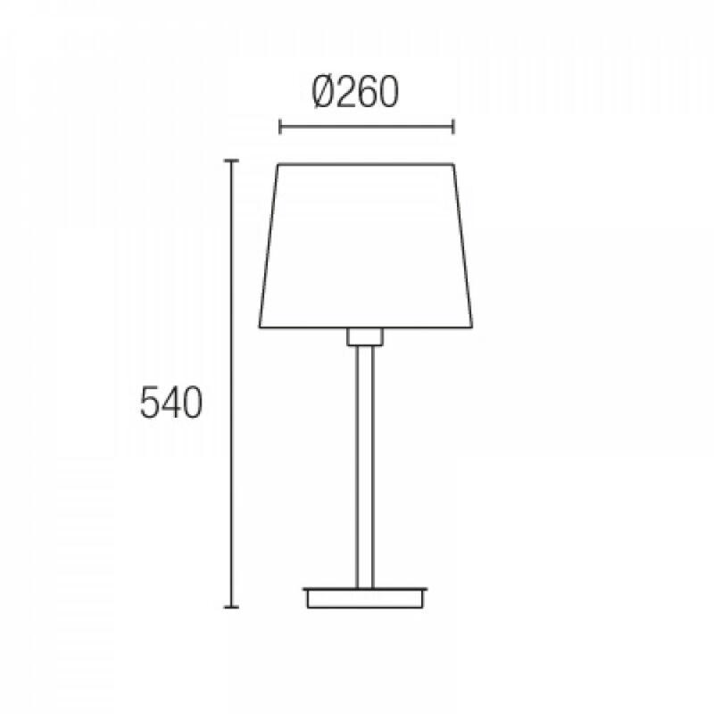 Leds-C4 TORINO 10-4695-Y2-82 asztali lámpa barna acél