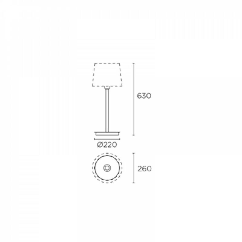 Leds-C4 DELUXE 10-4919-21-82 asztali lámpa króm acél