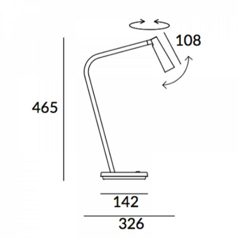 Leds-C4 GAMMA 10-6420-DN-DN ledes asztali lámpa arany acél