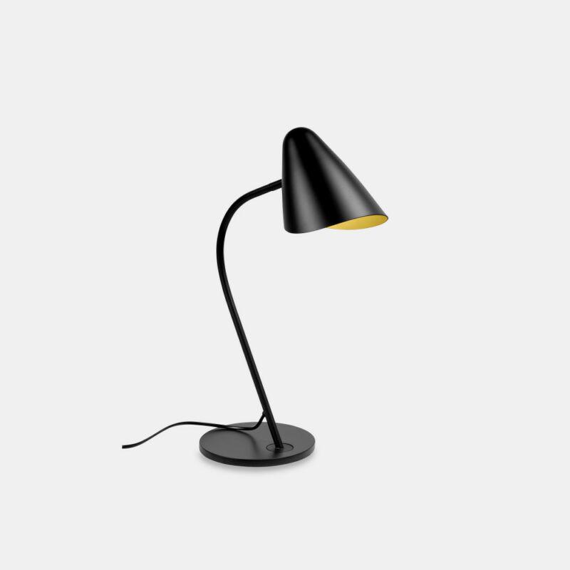 Leds-C4 ORGANIC 10-7582-05-05 éjjeli asztali lámpa fekete fekete acél acél