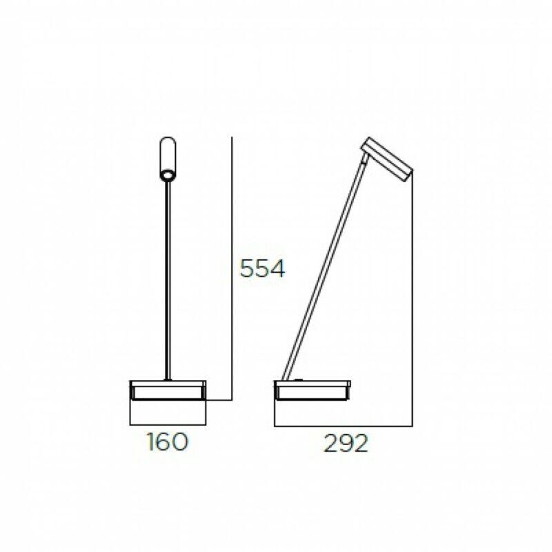 Leds-C4 ELAMP 10-7606-14-14 éjjeli asztali lámpa  fehér   alumínium
