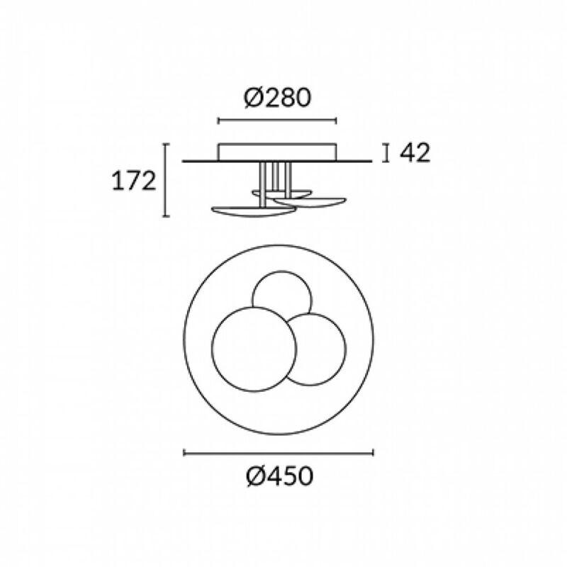 Leds-C4 STRATA 15-4921-21-14 fali lámpa króm alumínium