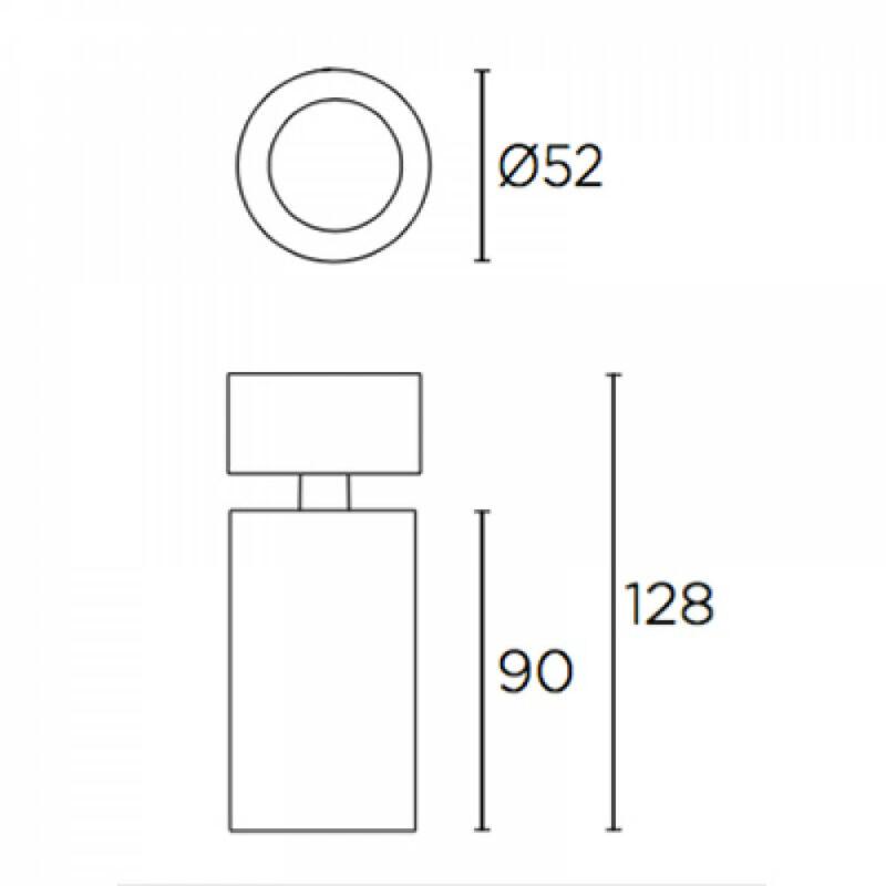 Leds-C4 ATOM 15-6486-14-MS mennyezeti lámpa fehér alumínium