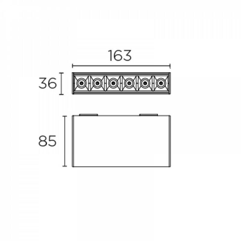 Leds-C4 BENTO 15-7195-60-MS beépíthető lámpa  fekete   alumínium