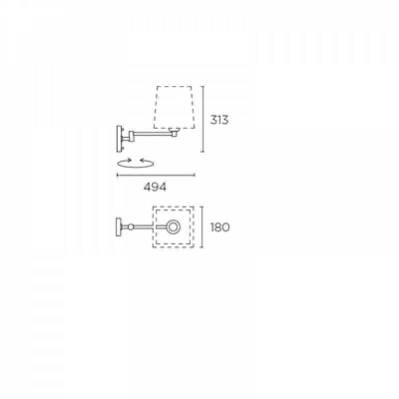 Leds-C4 DOVER 170-NS fali olvasólámpa szatinált nikkel acél