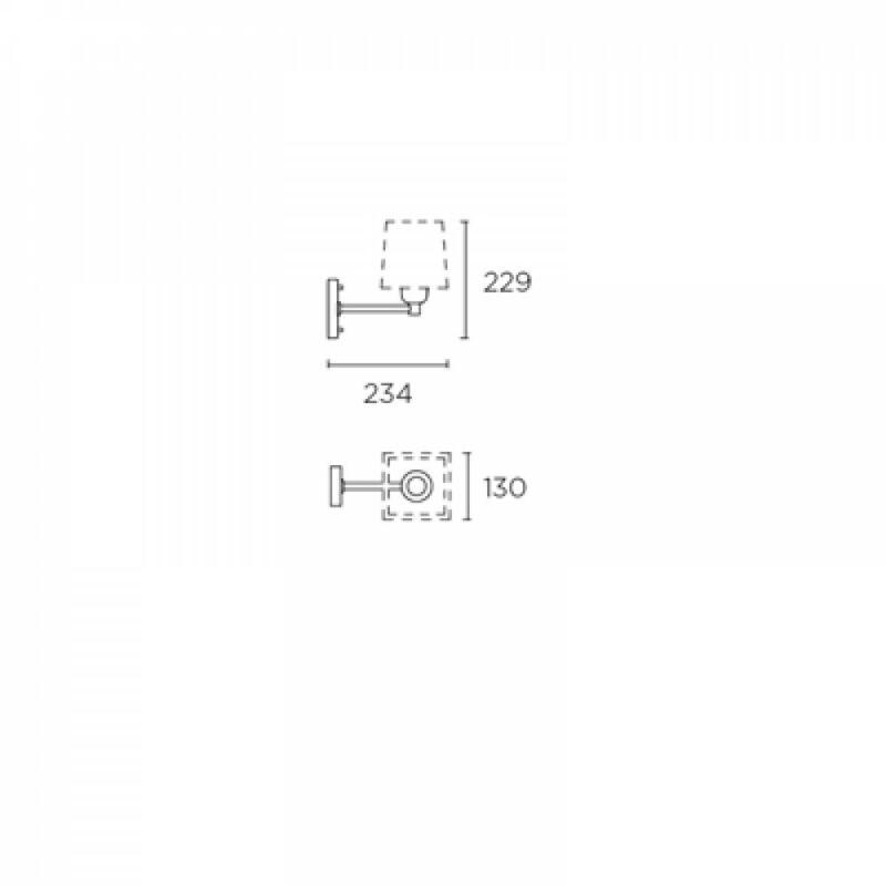 Leds-C4 DOVER 172-NS fali olvasólámpa  szatinált nikkel   acél