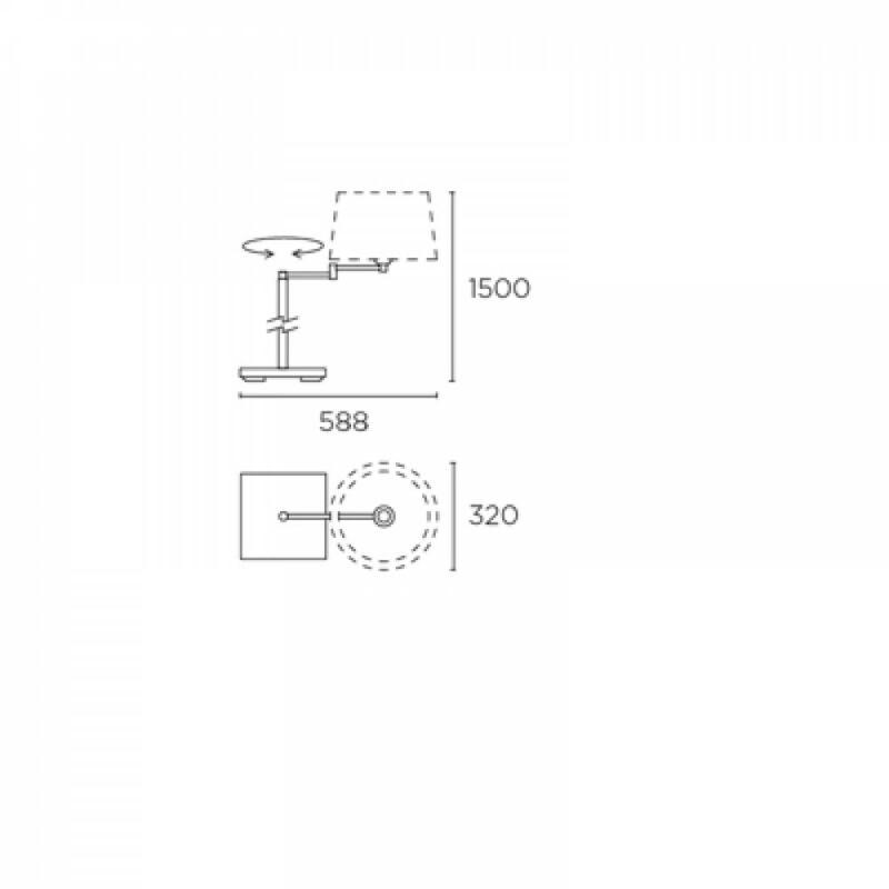 Leds-C4 DOVER 176-NS állólámpa  szatinált nikkel   acél