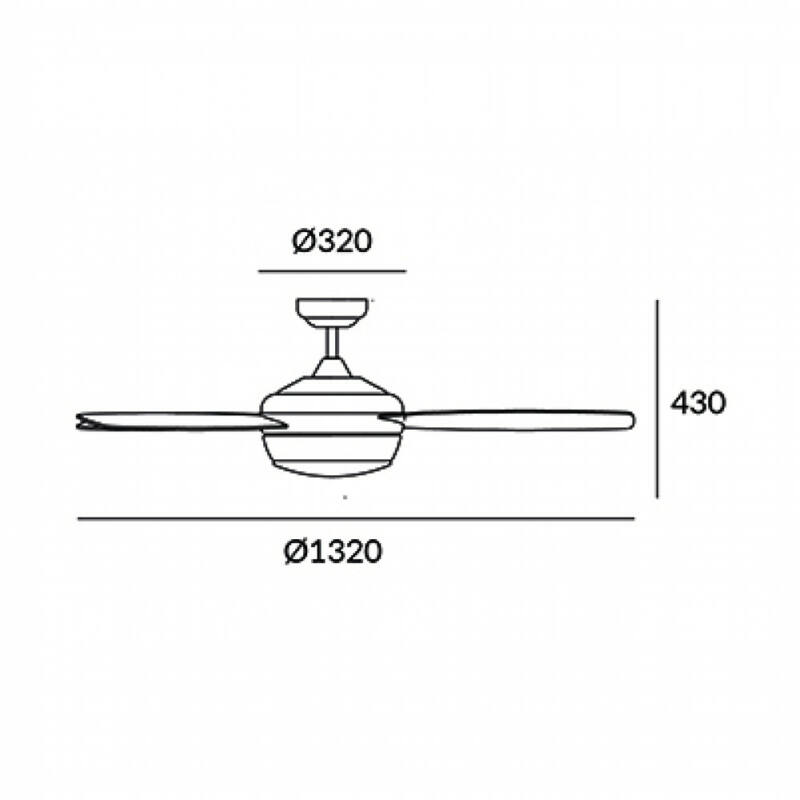 Leds-C4 SAMAL 30-0068-14-F9 ventillátoros csillár  fehér   fehér   acél   üveg