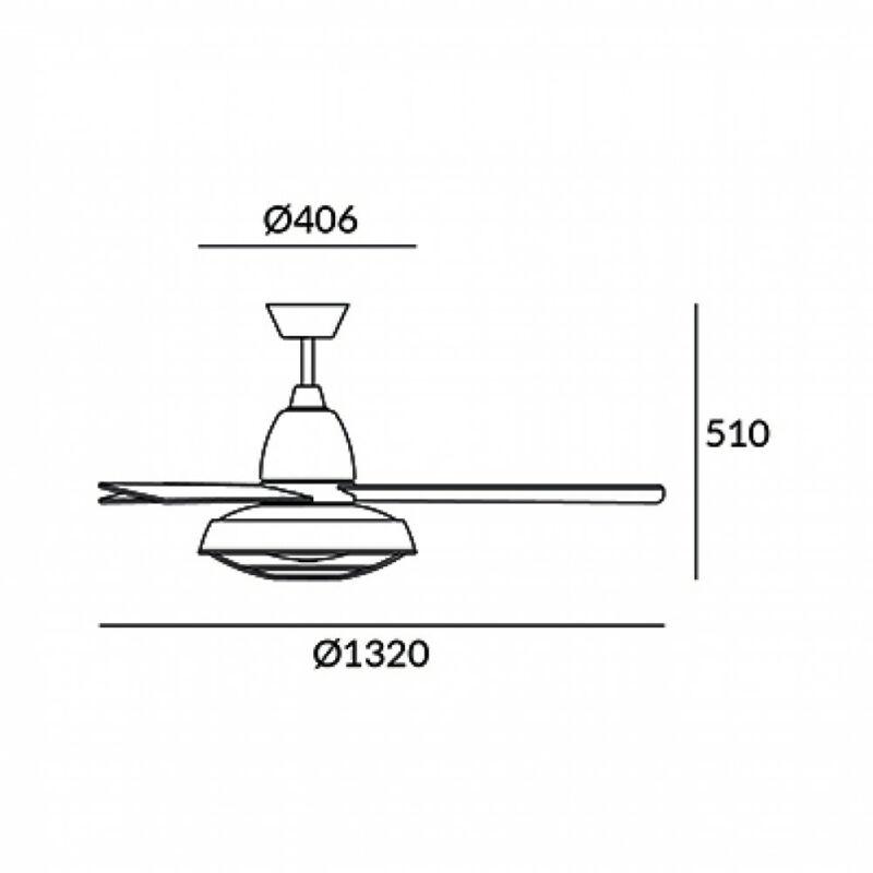 Leds-C4 VINTAGE 30-3248-CG-E9 ventillátoros csillár  rozsda   rozsda   acél   acél