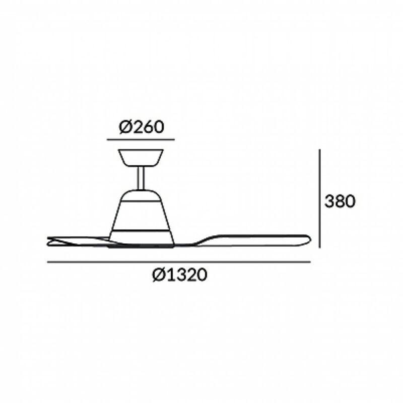 Leds-C4 TIGA 30-3249-CF-M1 ventillátoros csillár fehér fehér acél üveg